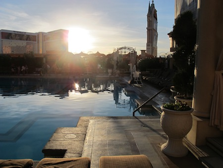 piscine fin de journée