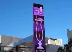 L'ecran publicitaire The Linq Las Vegas