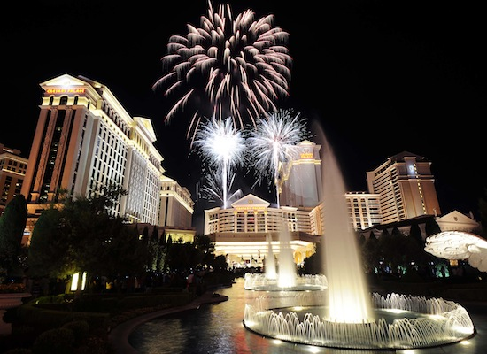 4th of July Fireworks Celebration Caesars Palace Las Vegas