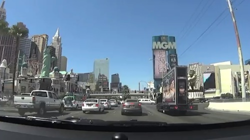 Le Strip Las Vegas en voiture