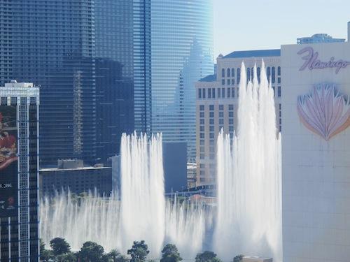 Fontaines Bellagio vues depuis High Roller Las Vegas