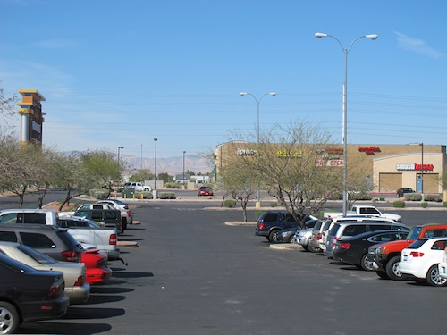 Parking extérieur Outlet Sud Las Vegas