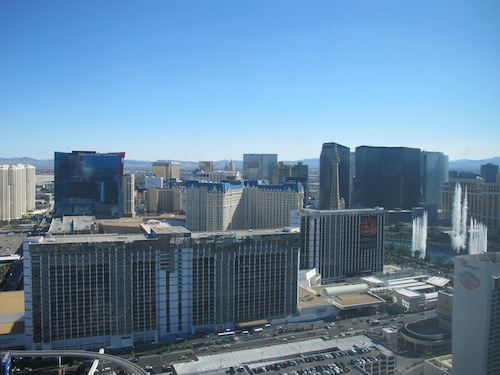 Vue panoramique sur Las Vegas- 500x 375