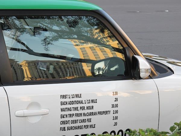 tarifs taxis Vegas