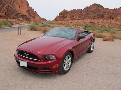 Valley of fire en Ford Mustang