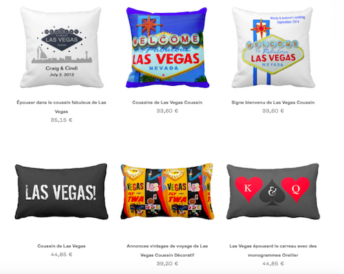 Coussins Las Vegas Zazzle