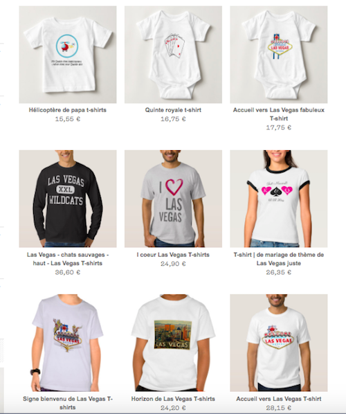 t-shirt las vegas