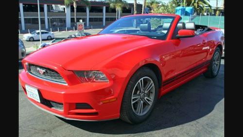 Mustang Rouge cabriolet Las Vegas