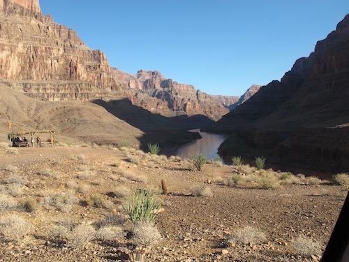 petit dejeuner dans le Grand Canyon