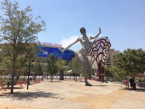 statue-T-Mobile- Arena- LasVegas