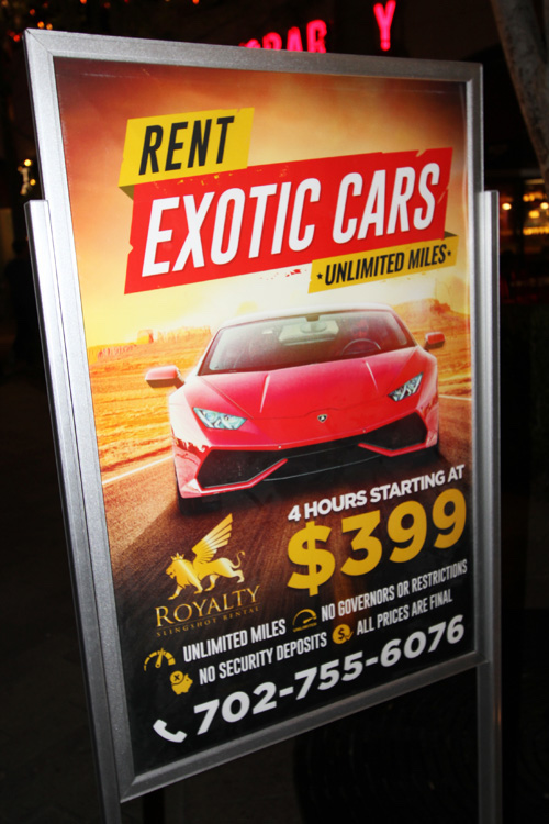 Exotic Rental Cars Linq