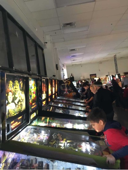 Interieur du Pinball Hall of fame