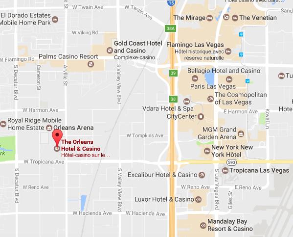 Orleans map Las Vegas